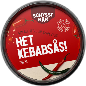 Kebabsås Het 160ml Schysst käk