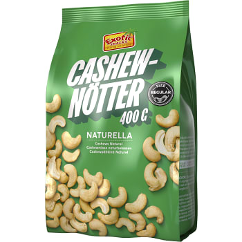 Cashewnötter Naturella 400g Exotic Snacks