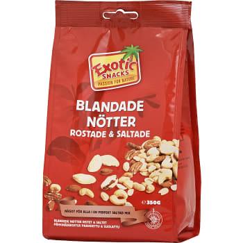 Blandade nötter Rostade & saltade 350g Exotic Snacks