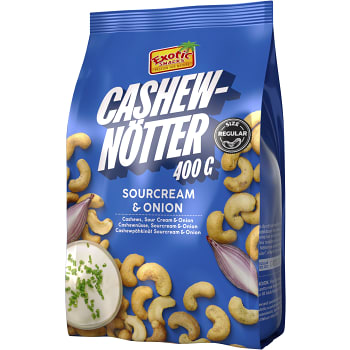 Cashewnötter Sourcream & onion 400g Exotic Snacks