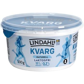 Kvarg Naturell Laktosfri 0,2% 500g Lindahls