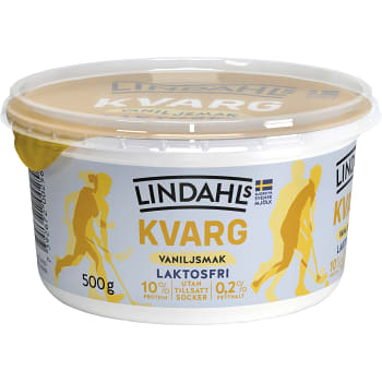 Kvarg Vaniljsmak Laktosfri 0,2% 500g Lindahls