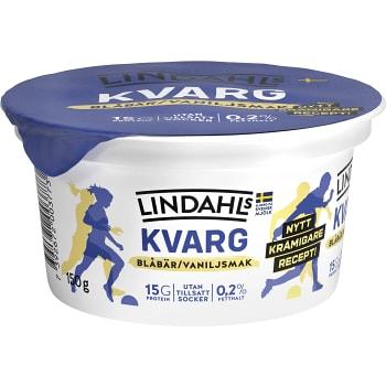 Kvarg Blåbär & vanilj 150g Lindahls