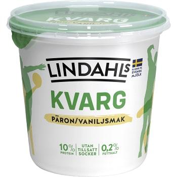Kvarg Päron & vanilj 900g Lindahls