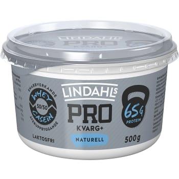 Pro + Kvarg Naturell Laktosfri 500g Lindahls