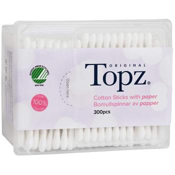 Bomullspinnar 300-p Miljömärkt Topz