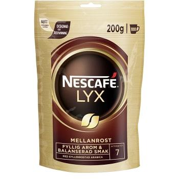 Lyx Mellanrost Snabbkaffe Refill 200g Nescafé
