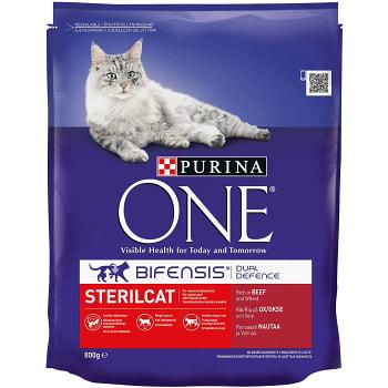 Kattmat Oxkött & vete för steriliserade katter 800g Purina ONE