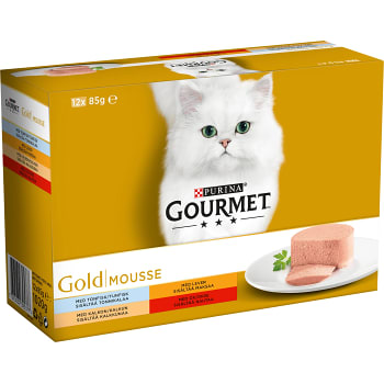Kattmat Mousse 12-p ca 1,1kg Gourmet