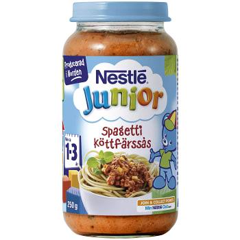 Junior spagetti köttfärssås Från 1-3år 250g Nestle