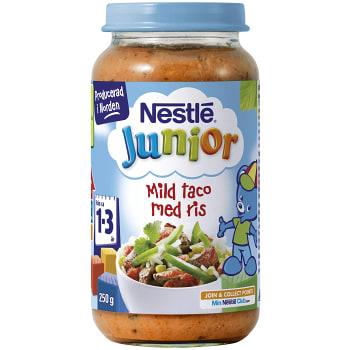 Junior mild taco med ris Från 1-3år 250g Nestle