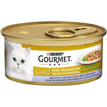 Kattmat Kalv & Grönsaker i sås 85g Gourmet