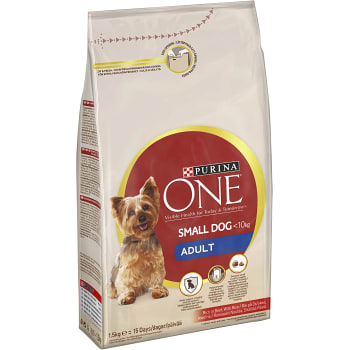Hundmat Adult Oxe & ris 1,5kg Purina ONE