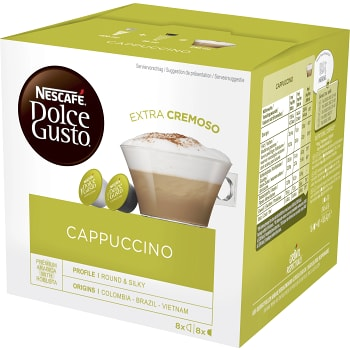 Kaffekapslar, Dolce Gusto, cappuccino, 16-p, Nescafe