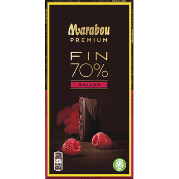 Chokladkaka Premium Raspberry Dark 100g Marabou
