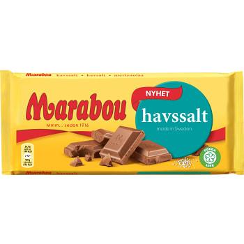 Mjölkchoklad med havssalt 185g Marabou