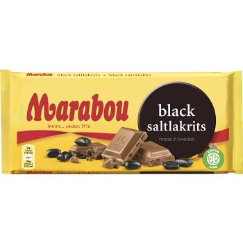 Mjölkchoklad Black Saltlakrits 180g Marabou
