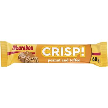 Mjölkchoklad Chrisp Peanut & toffee 60g Marabou