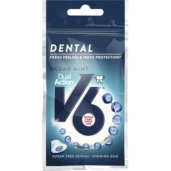 Tuggummi Dental dual action Ocean mint 30g V6