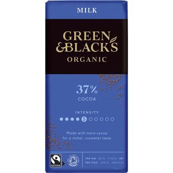 Chokladkaka Mjölkchoklad Ekologisk 37% 90g Green & black´s