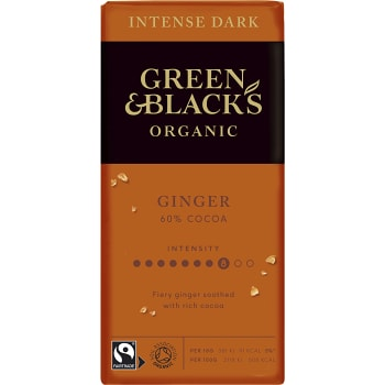 Chokladkaka Ginger 60% 90g Green & Black´s