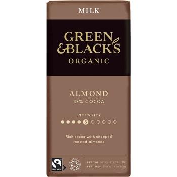 Chokladkaka Almond 37% 90g Green & Black´s
