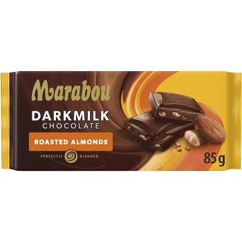 Chokladkaka Dark Milk Roasted Almonds 85g Marabou