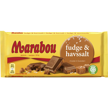 Mjölkchoklad Fudge & Havssalt 185g Marabou