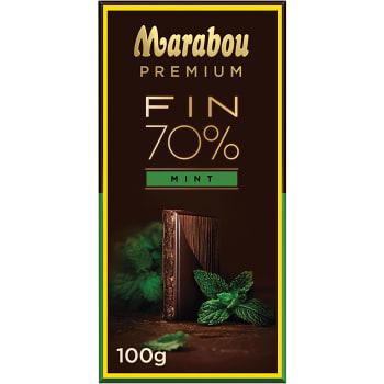 Chokladkaka Premium 70% Cocoa Mint 100g Marabou