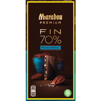 Chokladkaka Premium 70% kakao Sea salt pecan 100g Marabou