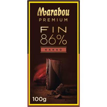Chokladkaka Premium 86% kakao Dark 100g Marabou