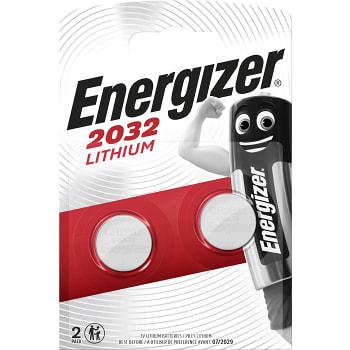 Fräscha Handla Knappcell 3V CR2032 2-p Energizer online från din lokala BI-94