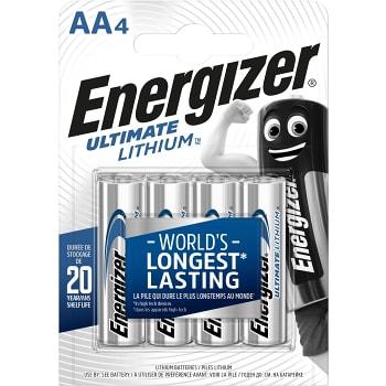 Batteri Lithium AA LR6 4-p Energizer
