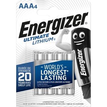 Batteri Lithium AAA LR03 4-p Energizer
