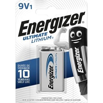 Batteri Lithium 9V 1-p Energizer