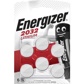 Knappcell CR2032 3V 6-p Energizer