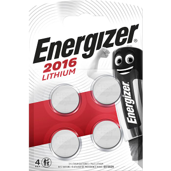 Knappcell CR2016 4-p Energizer