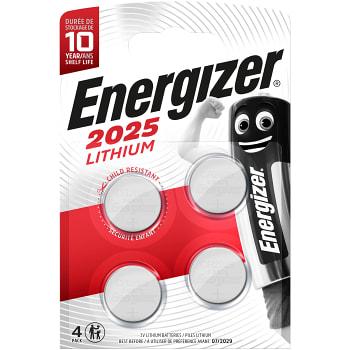 Knappcell 3V CR2025 4-p Energizer