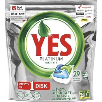 Maskindisktablett Platinum Green 29-p Miljömärkt Yes