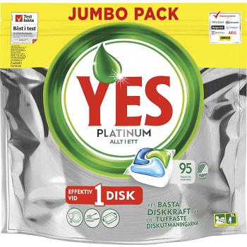 Maskindisktabletter Platinum 95-p Miljömärkt Yes