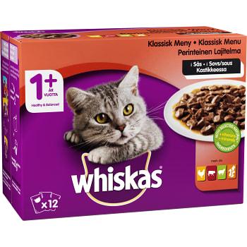 Kattmat Kött i sås 12-p 1,2kg Whiskas