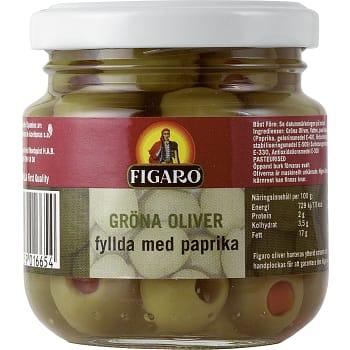 Oliver Gröna med Pimiento 140g Figaro