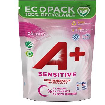 Tvättmedel Sensitive color Flytande Refill 920ml Miljömärkt A+