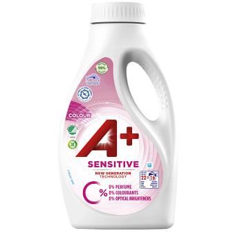 Tvättmedel Sensitive Color Flytande 880ml A+