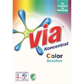 Tvättmedel Färg Sensitive 1,65kg Miljömärkt Via
