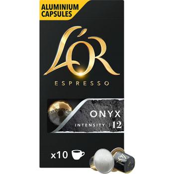 Kaffekapslar Espresso Onyx 10-p L´Or