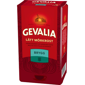 Kaffe Lätt Mörkrost Brygg 450g Gevalia