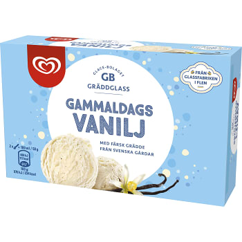 Gräddglass Gammaldags vanilj 500ml GB Gräddglass