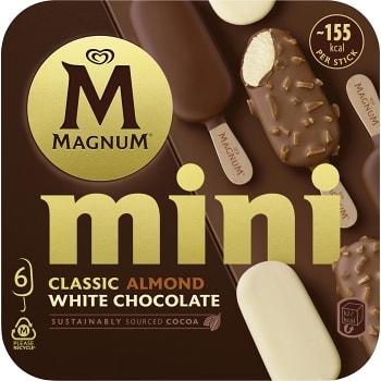 Glass Mini Classic Almond & White 6-p Magnum