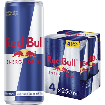 Energidryck 25cl 4-p Red Bull